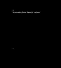De mémoire - David Gagnebin-de Bons
