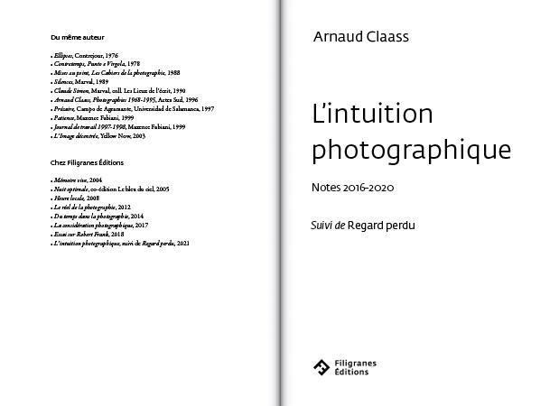 L'intuition photographique